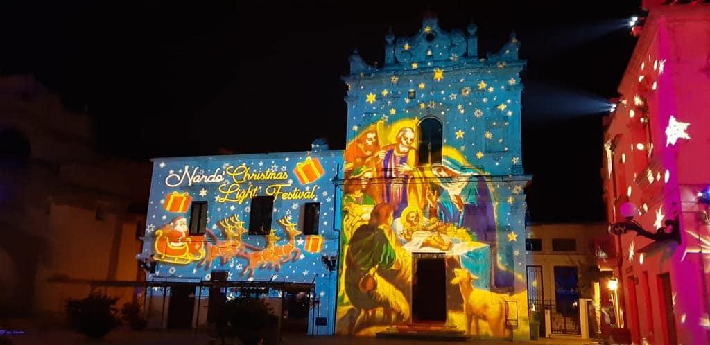 """Spettacolo di luci in piazza Salandra a Nardò: """"Sinonimo di bellezza"""""""