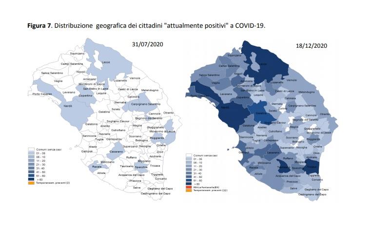 Report Asl, 1753 i cittadini attualmente positivi. I dati dei Comuni: a Copertino 50, a Nardò 61, a Porto Cesareo 45