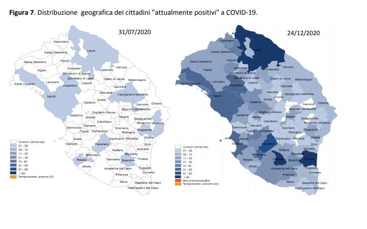 Covid, contagi in calo in provincia. A Porto Cesareo 34 casi, 43 a Copertino, 41 a Nardò
