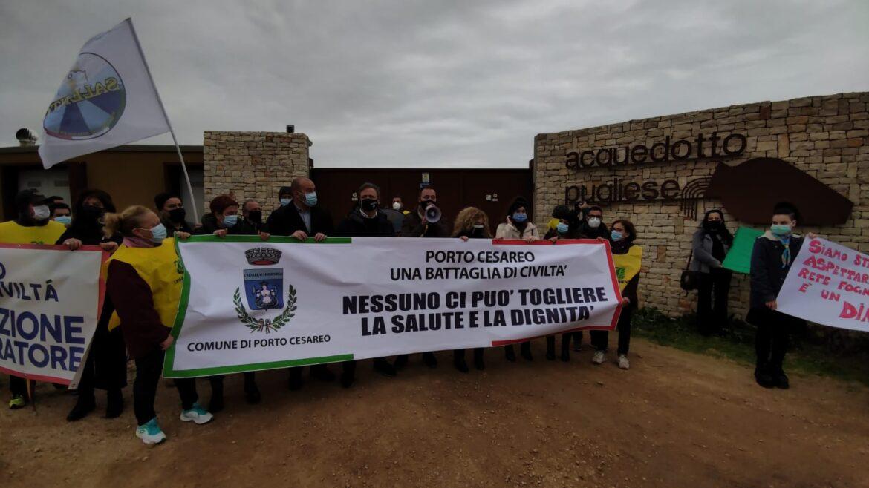 """[video] – """"Subito in funzione il nuovo depuratore"""", sit-in a Porto Cesareo"""