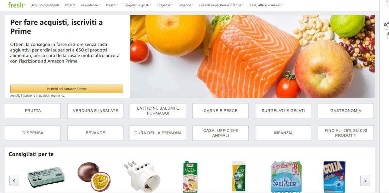 Amazon fresh arriva in Italia: il colosso dell'e-commerce propone la spesa a domicilio in giornata