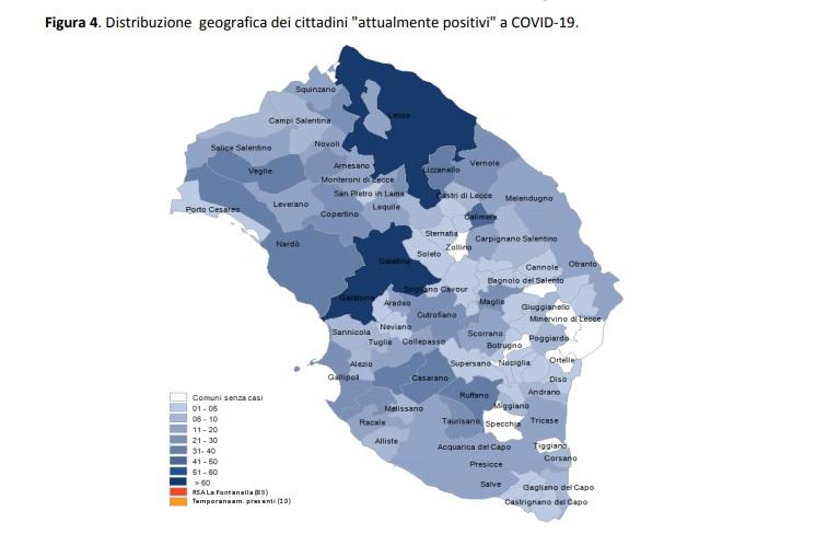 Report Asl, i dati nei Comuni. Numero dei positivi a quota 1482, in calo. Aumenti a Veglie