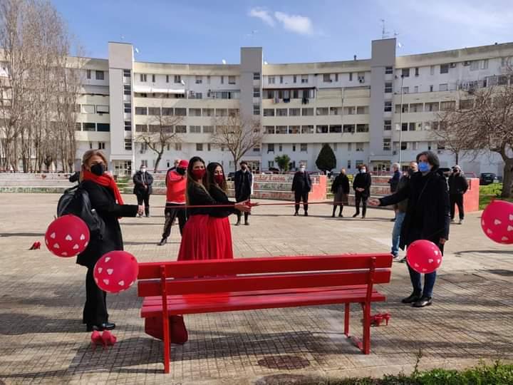 8 Marzo, parola agli uomini. E nel quartiere Stadio a Lecce installate tre panchine rosse