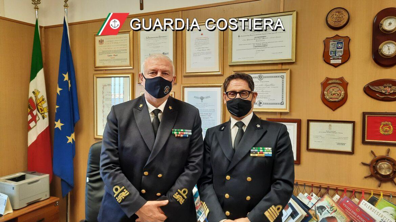 Direttore marittimo Meli in visita al compartimento di Gallipoli
