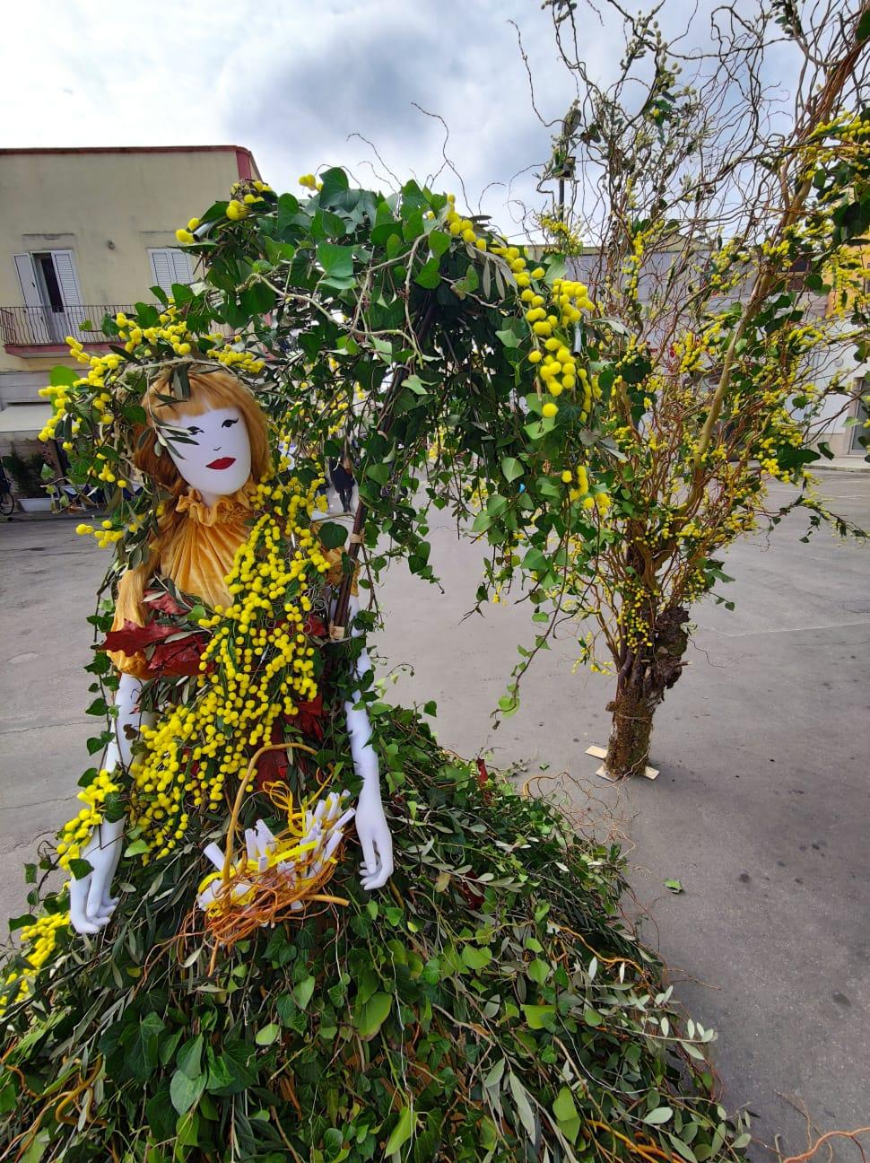 Installazioni con mimose e frasi per sottolineare la forza delle donne, così Porto Cesareo celebra l'8 marzo