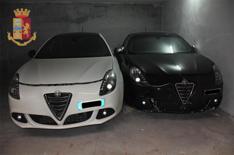 Giro di furti d'auto e ricettazione, due arresti. Nell'elenco anche due vetture Abarth e Giulietta rubate a Porto Cesareo