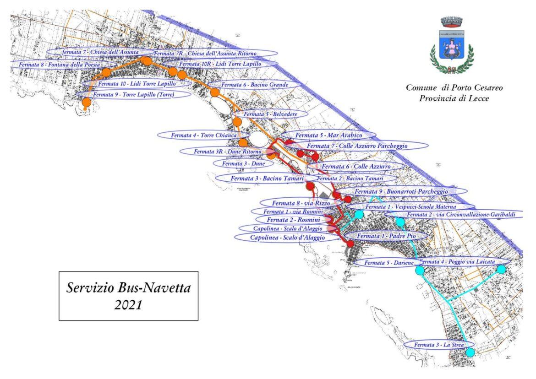 Servizio navetta da Porto Cesareo per il Colle Azzurro, Torre Lapillo e la Strea: partenza il 19 giugno
