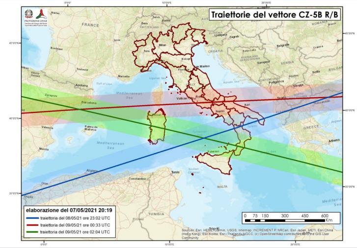 """Rientro """"incontrollato"""" del lanciatore spaziale cinese, possibili frammenti anche sulla Puglia"""