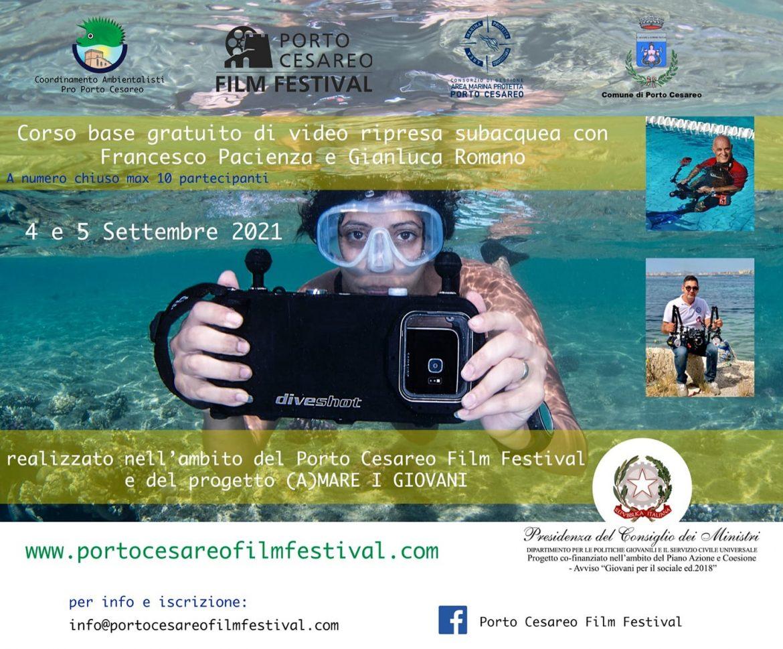 Porto Cesareo Film Festival, corso base di videoripresa subacquea