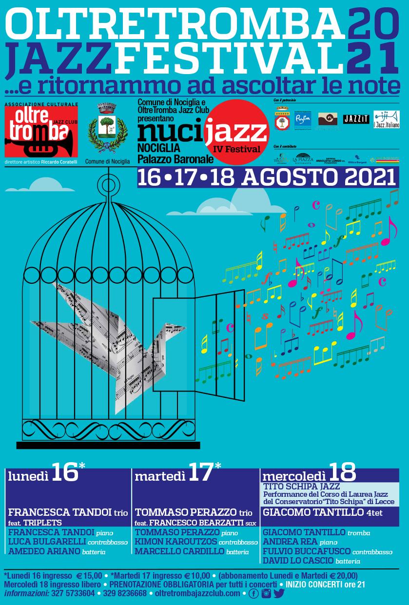 """Torna il Nucijazz Festival per """"Oltretromba"""", appuntamento al Palazzo Baronale di Nociglia"""