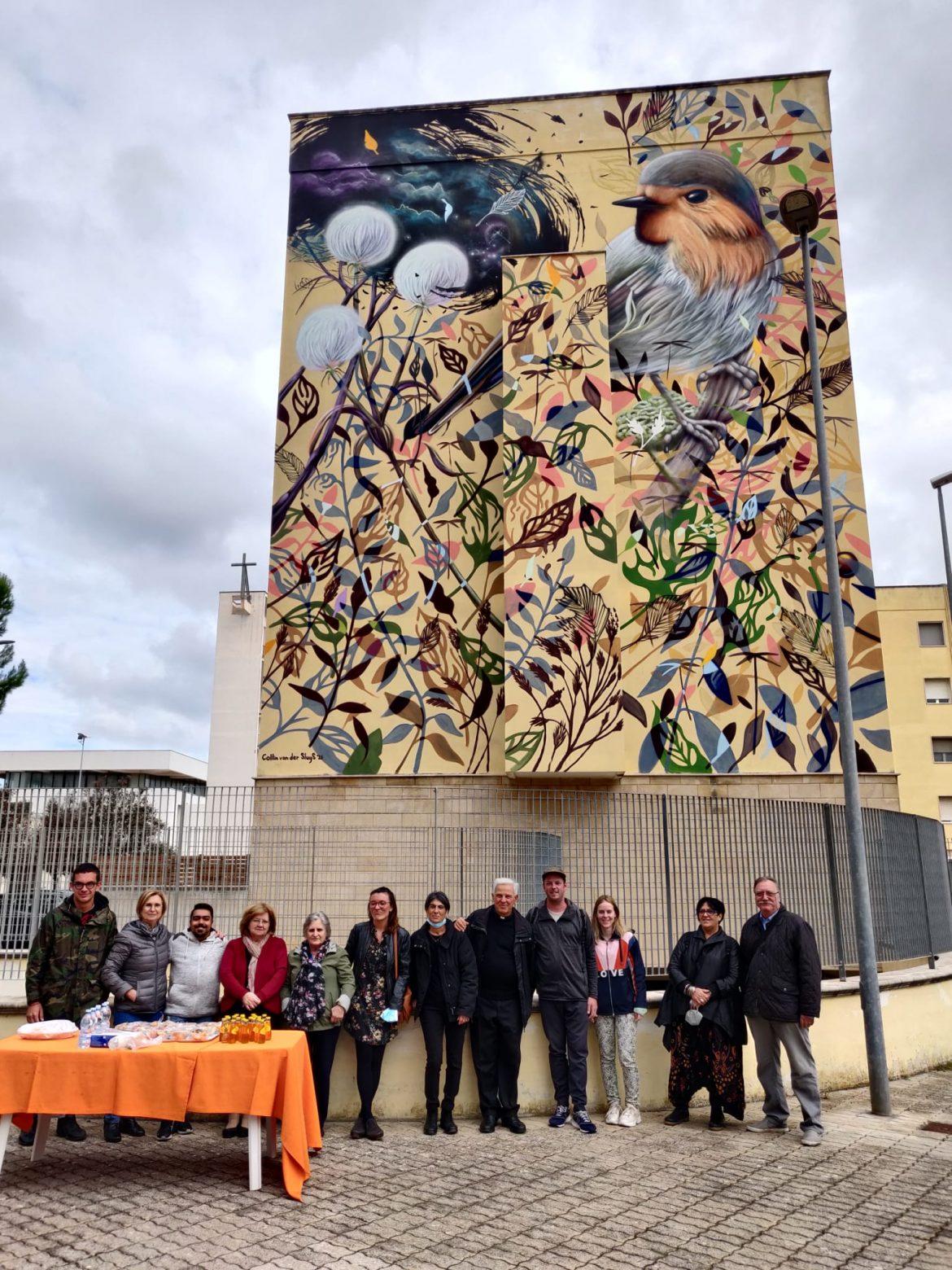 HollAndMe, l'artista Collin Van Der Sluijs firma murales nel quartiere Stadio